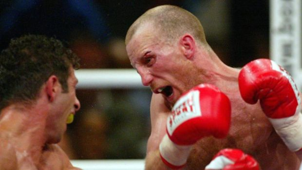 Magee in action against Oktay Urkal in Germany in 2003. Photo: Alexander Hassenstein/Bongarts/Getty Images