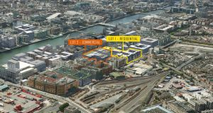 The north docklands site is awaiting planning permission for a vast office development extending to 30,890sq m