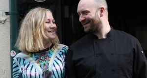 Carole Walsh, who runs the Chameleon Restaurant and her husband Kevin O'Toole.