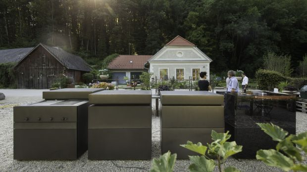The Rock Air is a monolithic-looking set of cooking cubes designed for outdoor use.