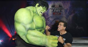 The Incredible Hulk and Lou Ferrigno at a celebrity red carpet event in Los Angeles, California, in 2017. Photograph: Getty Images