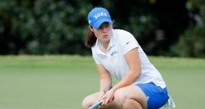Leona Maguire: at a tournament in Georgia in April she broke the  Atlantic Coast Conference  record for the most even or under-par rounds in a college career.  Photograph:   Kevin C Cox/Getty Images