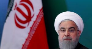 "Iran's president, Hassan Rouhani, said he would not bend to ""psychological warfare"" from Donald Trump and  Iran was ready to produce more nuclear fuel if necessary. Photograph: Danish Siddiqui/Reuters"