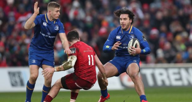 04a8b8a645c Leinster's Jordan Larmour (left) will start in Bilbao with James Lowe  (right)