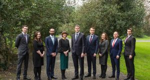 Cian Clinch, Sarah Byrne, James Kelly, Martha Wilson, David Phelan (managing partner), Conor Morgan, Fiona Shipsey, Tomás Nyhan and Jeremy Erwin.