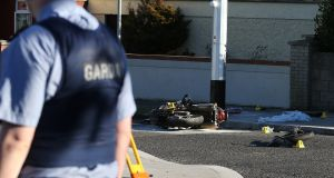 Finglas man Shane Fowler died last Sunday when the motorbike he was riding hit a lamppost. Gardaí believe a gun he was carrying was about to be used in a feud-related shooting. Photograph: Stephen Collins