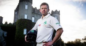 Ed Joyce pictured at Malahide Castle. The 39-year-old left-hander is set to  make his Test debut against Pakistan on Friday. Photograph:   Ryan Byrne/Inpho