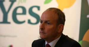 Fianna Fáil leader Micheál Martin at a Lawyers Together for Yes event in Dublin on Wednesday evening. Photograph: Stephen Collins/Collins.