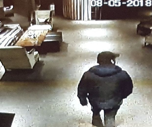 A CCTV image of Scott Hutchison, last seen at the Dakota Hotel in South Queensferry around 1am on Wednesday. Photograph: Police Scotland/PA Wire