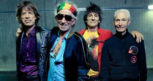 The Rolling Stones: Mick Jagger, Keith Richards, Ronnie Wood and Charlie Watts