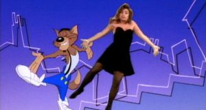 Paula Abdul with her dancing cat MC Skat Cat