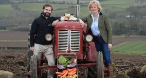 Jack and Tracy  Hamilton on the family farm in Comber Co Down. Photograph: Pacemaker Press