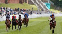 Rostropovich (right) ridden by Ryan Moore wins the  Dee Stakes at Chester. Photograph:  Martin Rickett/PA Wire