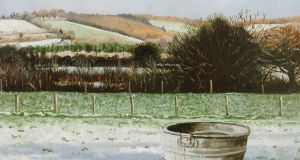 Martin Gale, Winter Feed, oil on canvas