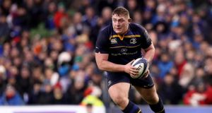 "Leinster's Tadgh Furlong: ""Don't get too carried away by the highs,  but don't get too carried away by the lows either."" Photograph: Tommy Dickson/Inpho"