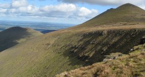 The Galtee mountains. King's Yard is in a  secluded glade on the southern side