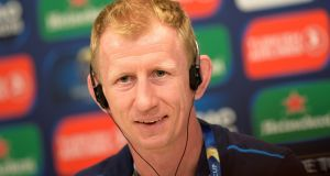 Leinster head coach Leo Cullen during a press conference in Bilbao. Photograph: Vincent West/Reuters