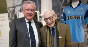 Arnotts  managing director Donald McDonald and former employee Gerry Nolan, who began working in the Dublin department store in 1947. Photograph: Tom Honan.