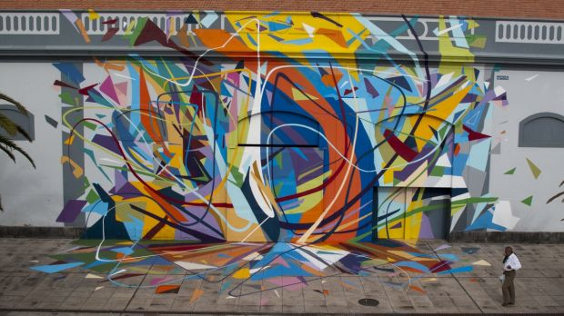 Street art in Las Palmas by Sabotaje Al Montaje. Photograph: streetartnews.net
