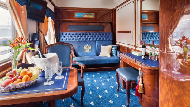 The Romanov Suite, an entire private carriage on the already-private Trans-Siberian train
