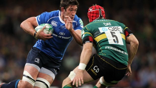 Nathan Hines carries during the 2011 Heineken Cup final. Photograph: Colm O'Neill/Inpho