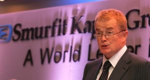 "Smurfit Kappa chairman Liam O'Mahony said the IP bid ""entirely fails to value the group's intrinsic business worth and prospects"". Photograph: Cyril Byrne"