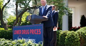 "President Donald Trump blasted drugmakers and healthcare ""middlemen"" for making prescription drugs unaffordable for Americans"