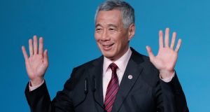 "Singapore's prime minister Lee Hsien Loong: has welcomed US president Donald Trump and North Korean leader Kim Jong-un meeting as ""a significant step on the path to peace"". Photograph: Ritchie B Tongo"