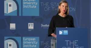 Federica Mogherini, vice-president of the European Commission: the European University Institute's conference debated  the proposed multi-annual budget. Photograph: Claudio Giovannini