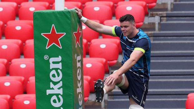 James Ryan during Friday's captain's run in Bilbao. Photograph: Billy Stickland/Inpho