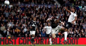 Cameron Jerome gives Derby County a 1-0 win against Fulham. Photograph: Matthew Childs/Reuters