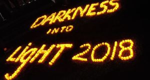 Thousands of people turned out for Darkness Into Light at Galway this morning.