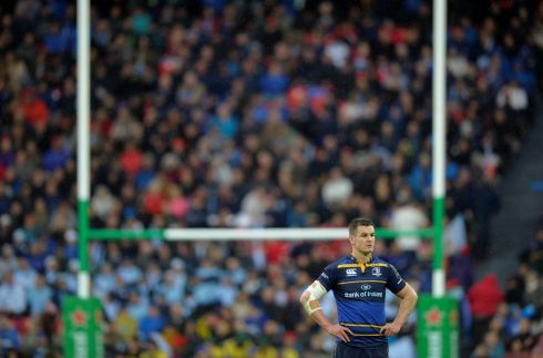 Leinster's  Johnny Sexton during a break in play in the first half. Photograph: Reuters