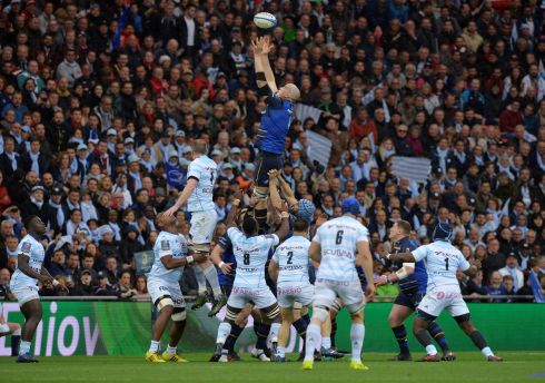 Devin Toner rises highest in the lineout. Photograph: Reuters