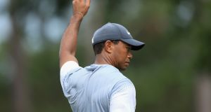 Tiger Woods shot a third round 65 at The Players. Photograph: Sam Greenwood/Getty