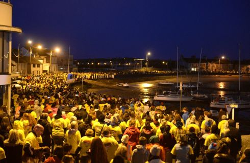 12/05/2018 -  NEWS - People taking part in Darkness Into Light, in aid of Pieta House, in Skerries, Co. Dublin. Photograph: Dara Mac D?naill / The Irish Times         Photograph: Dara Mac Donaill / The Irish Times