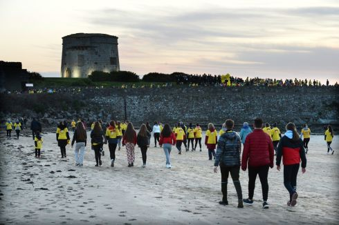 People taking part in Darkness Into Light, in aid of Pieta House, in Skerries, Co. Dublin. Photograph: Dara Mac Donaill / The Irish Times