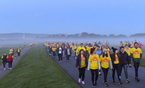 Participants pictured at the annual Darkness Into Light fundraising event in Dublins Phoenix Park with Pieta House and Electric Ireland.  Photo by Harry Murphy/Sportsfile