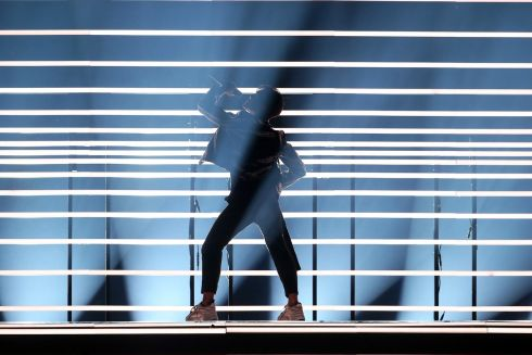 Benjamin Ingrosso representing Sweden with 'Dance You Off' performs during the Grand Final of the 63rd annual Eurovision Song Contest (ESC) at the Altice Arena in Lisbon, Portugal Twenty-six finalists are competing to win the ESC 2018.  EPA/JOSE SENA GOULAO