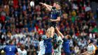 Leinster's James Ryan wins the lineout from Racing 92's Donnacha Ryan. Photograph: James Crombie/Inpho