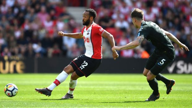 Nathan Redmond during Southampton's 1-0 defeat to Manchester City. Photograph: Mike Hewitt/Getty