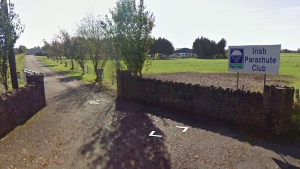Gardaí said an aircraft took off from Clonbullogue airfield (above) with 16 parachutists on board, all of whom made their jump from the craft. File photograph: Google Street View