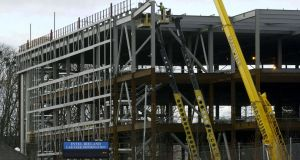 Activity in the commercial construction sector rose at its fastest level in 11 months in April. Photograph: Alan Betson
