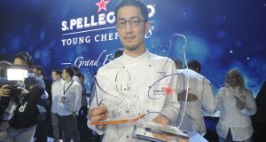 Yasuhiro Fujio from Japan, winner of the San Pellegrino young chef of 2018 title