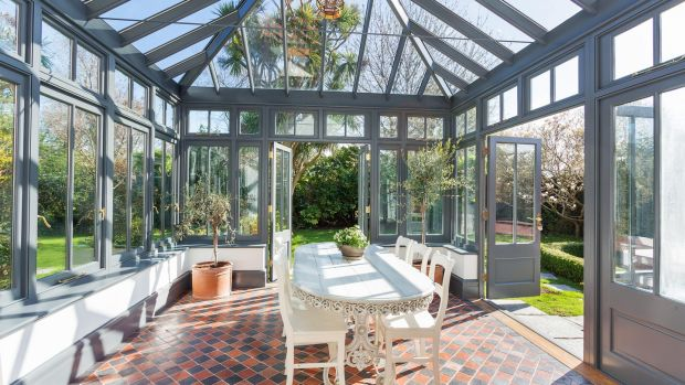 The Ulverton property features a conservatory where olive trees and tomatoes are happily growing away.