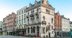 The Dublin Citi Hotel is based in two exquisite period buildings dating from 1868 and 1910 and featuring ornate brick walls and polished red granite