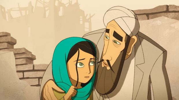 Scene from 'The Breadwinner', by Cartoon Saloon.