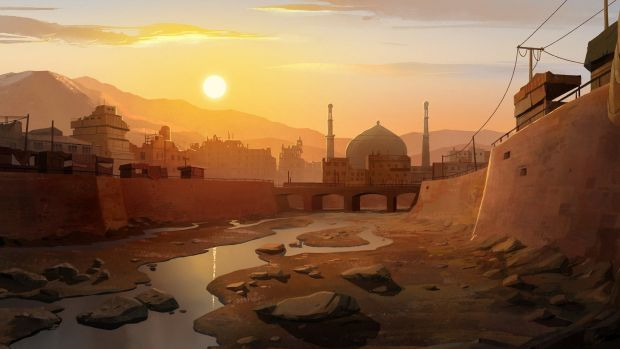 Scene from 'The Breadwinner', by Cartoon Salon.