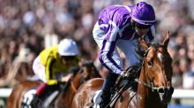 Saxon Warrior, ridden by Donnacha O'Brien, winning the   2000 Guineas at Newmarket on  May 5th. Photograph:  Joe Giddens/PA Wire