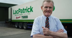 LacPatrick chief executive Gabriel D'Arcy. Glanbia, Lakelands, Aurivo and Dale Farm have all expressed interest in the co-op.  Photograph: Enda O'Dowd